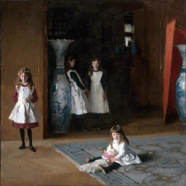 portrait of four girls by John Singer Sargent