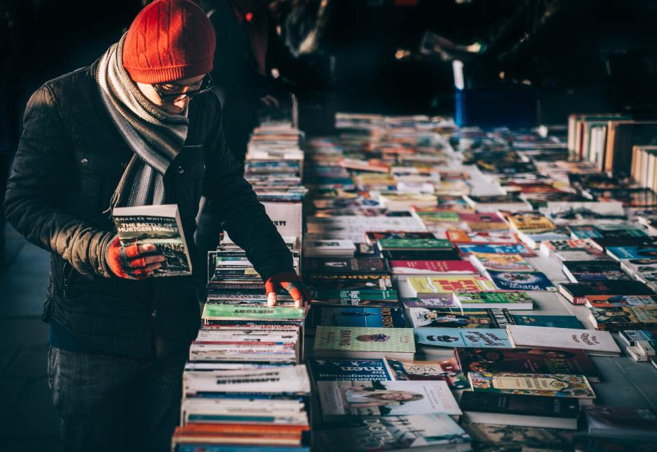 A book market in London