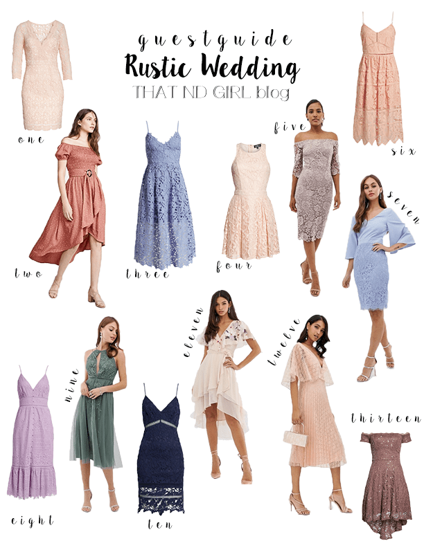 Rustic Wedding Guest Guide 2019 That Nd Girl