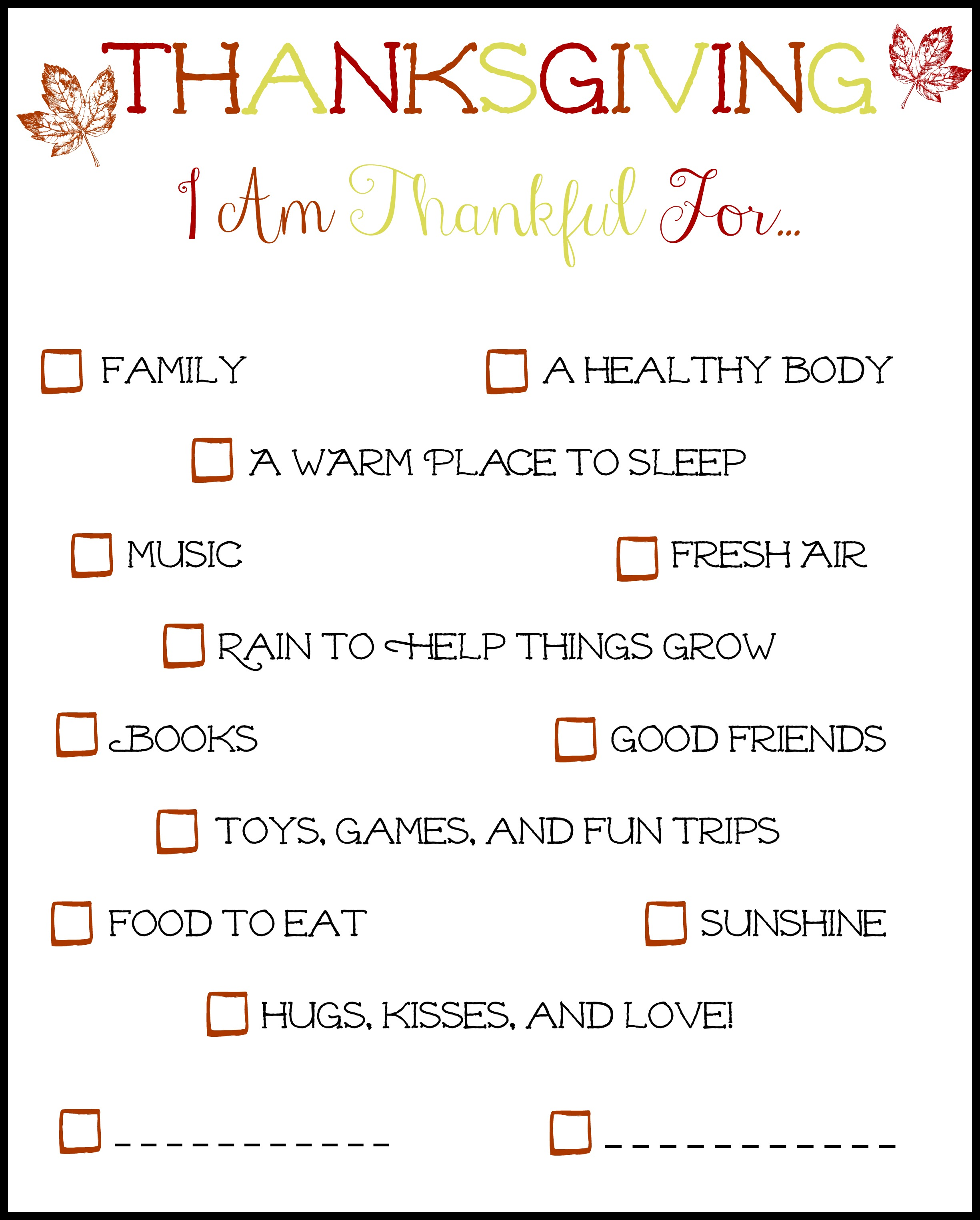 There S Always Something To Be Thankful For Including This Free Printable That One Mom