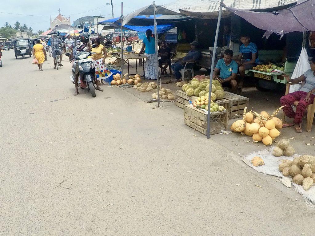 De markt in Negombo, Sri Lanka