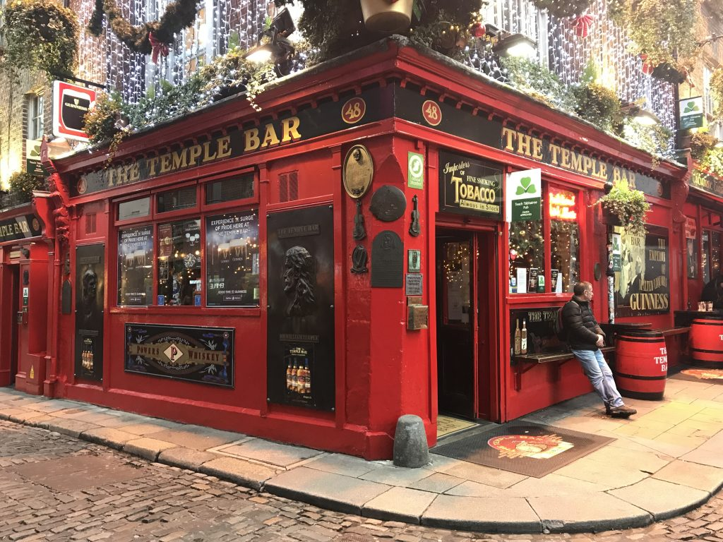 December in Ierland - the Temple Bar