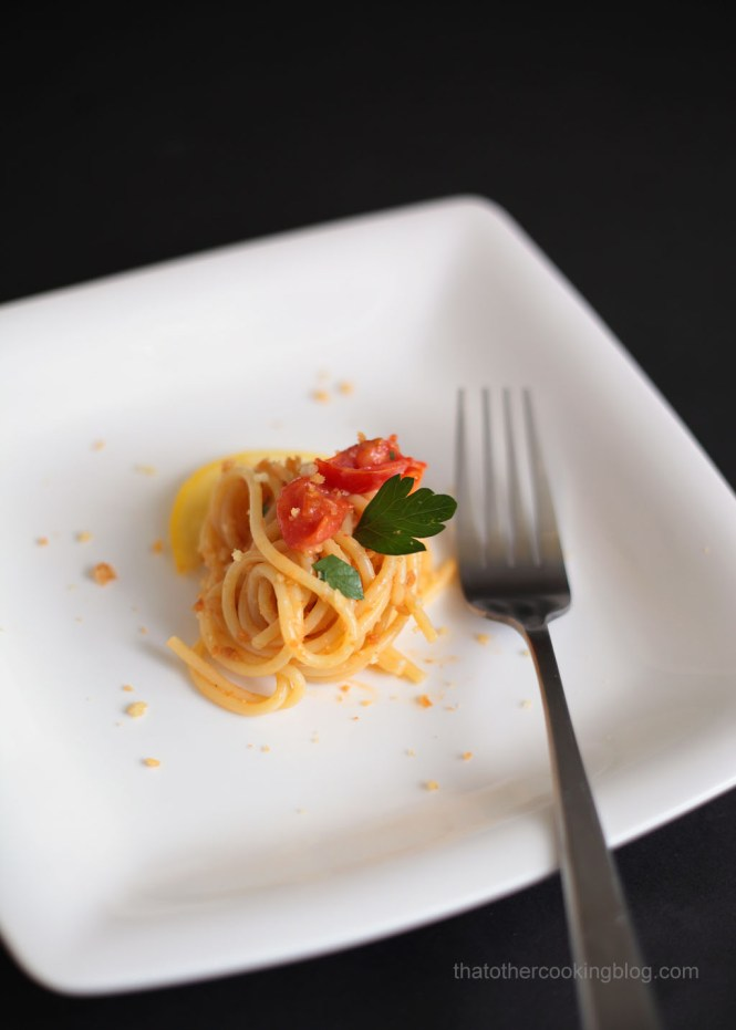 Roasted Cherry Tomatoes Spaghetti