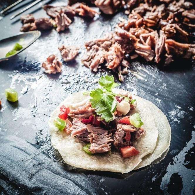 Lamb Shoulder Asada Tacos. Sous Vide 56C 72h
