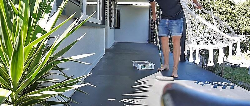 Best Outdoor Paint For Concrete Porch Stunning Comparison 2020   Painting Outdoor Concrete Steps   Behr Premium   Epoxy   Front Porch   Deck   Slip Resistant