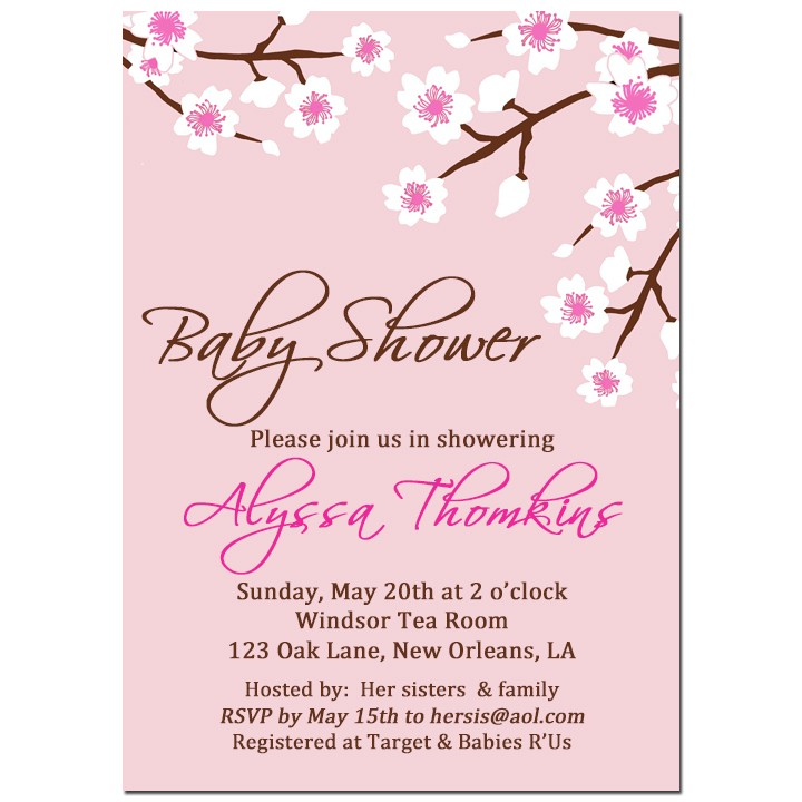 Cherry Blossom Invitation By That Party Chick