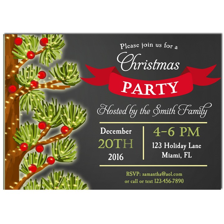 Christmas Party Invitation By That Party Chick Holly