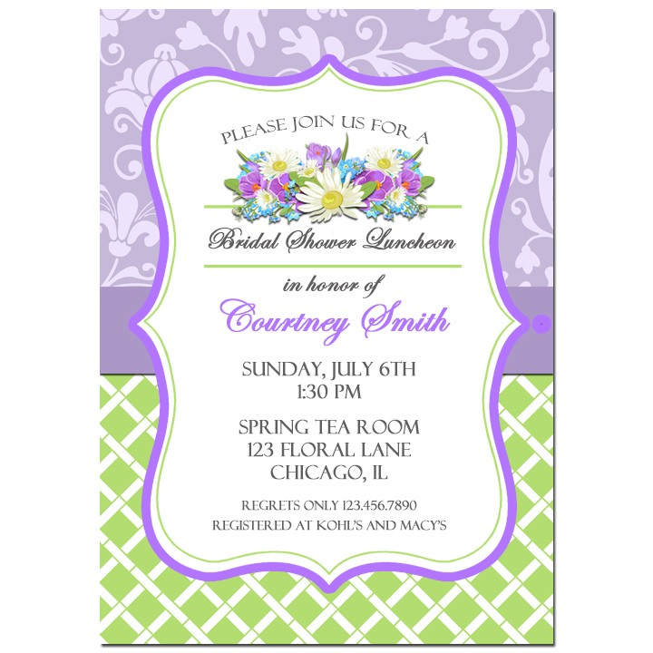 Lavender Floral Invitation By That Party Chick Shabby