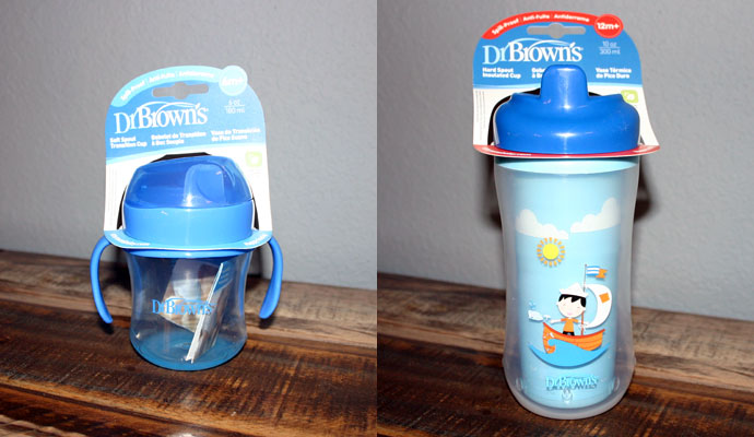 Dr. Brown's Soft Spout Transition Cup and Hard Spout Insulated Cup
