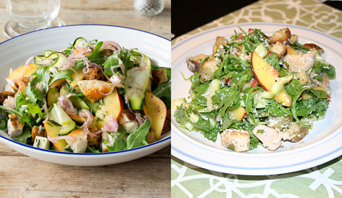Chicken and Nectarine Panzanella meal kit from Hello Fresh