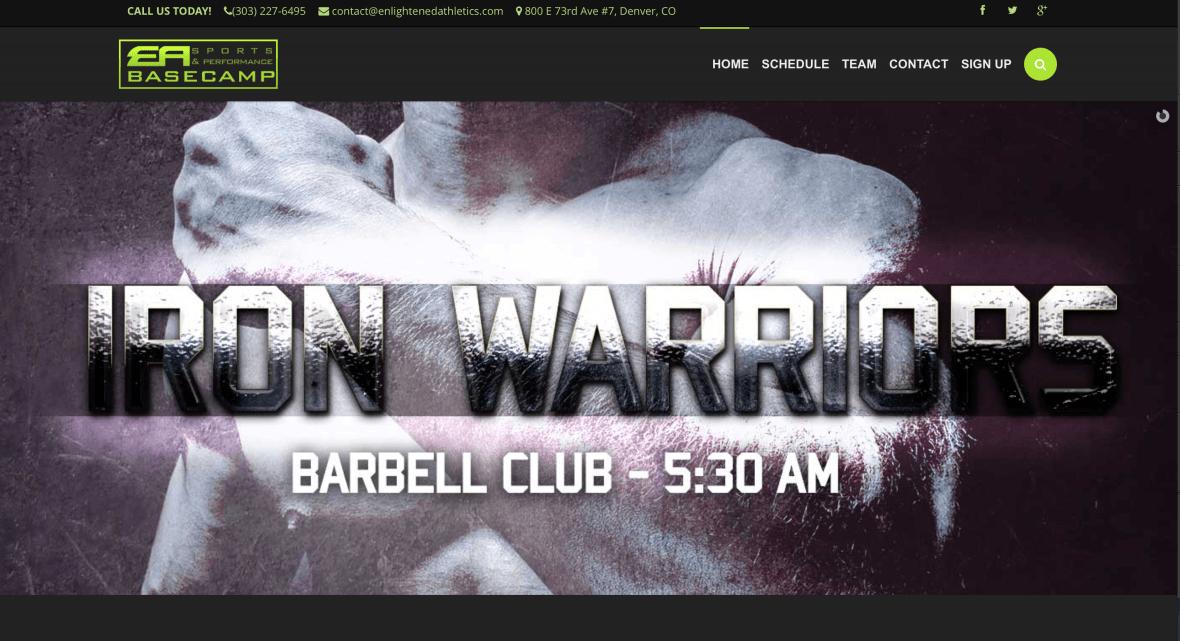 Enlightened Athletics Basecamp Iron Warriors