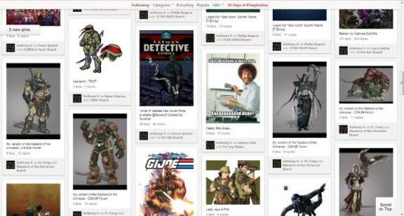 geeky pinterest page