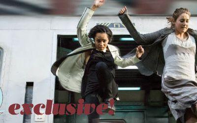 Shailene Woodley Divergent Set, interview, Theo James