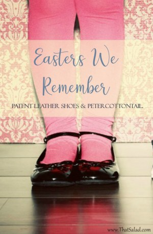 Patent leather shoes and Peter Cottontail
