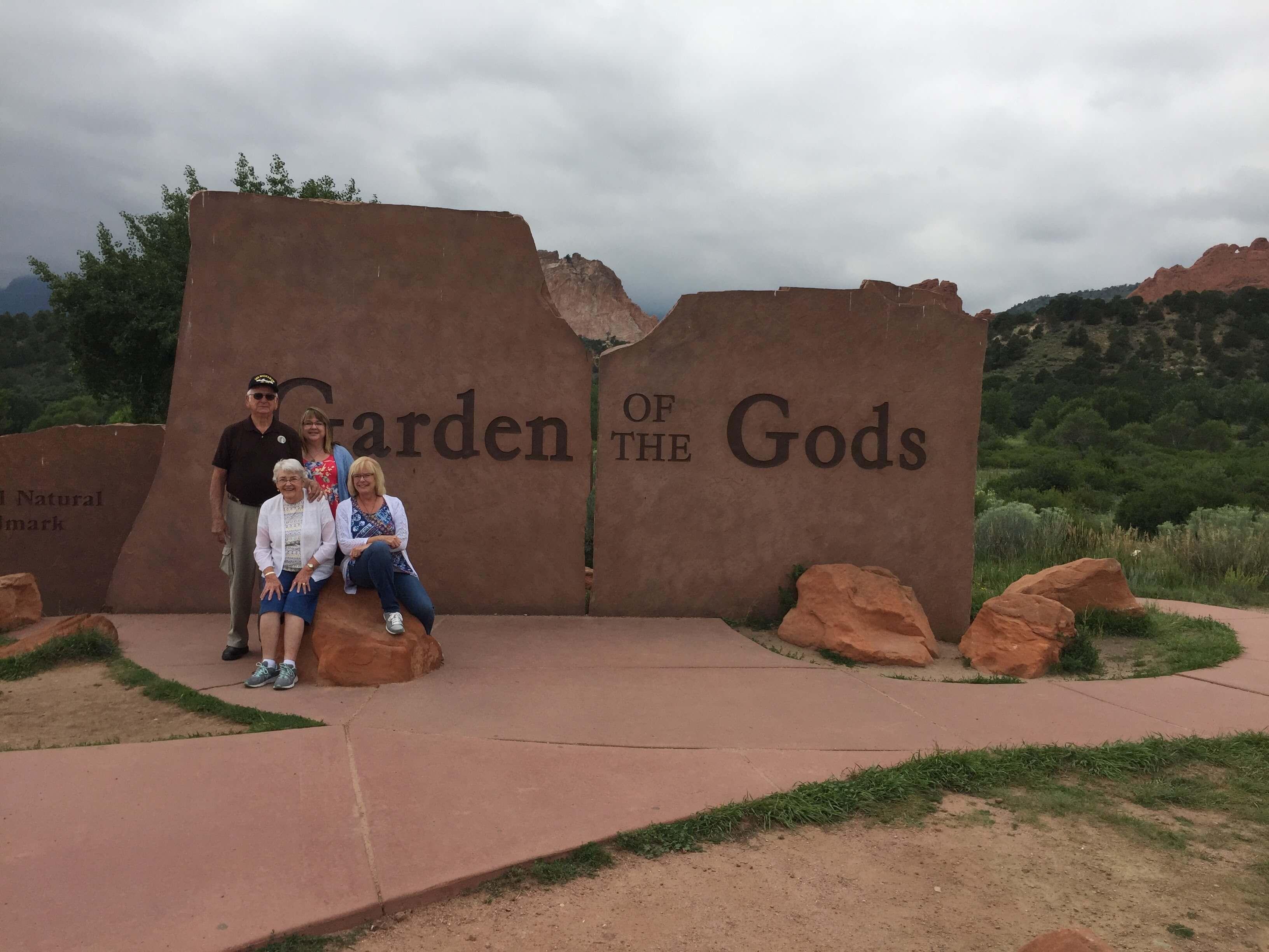 Mom, Dad, Kim, Sue, Garden of the Gods, Colorado, 2017