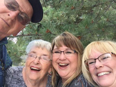 Dad, Mom, Sue, Kim, WY, 2017