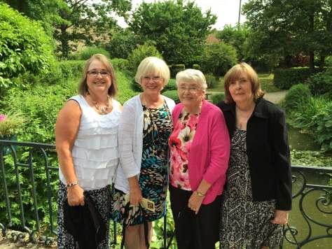 Sue, Kim, Mom, Karen, Hotel Chateua d'Ige, France, 2015