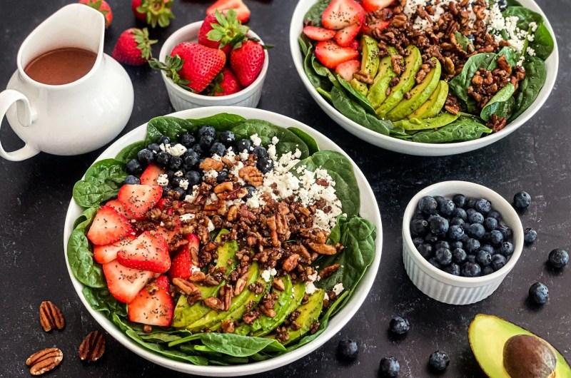 Very Berrylicious Spinach Salad