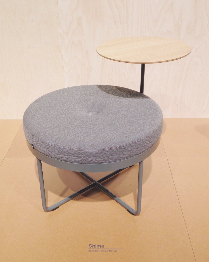 Shima; a nice little stool with an attached little turnable table by Johanson.