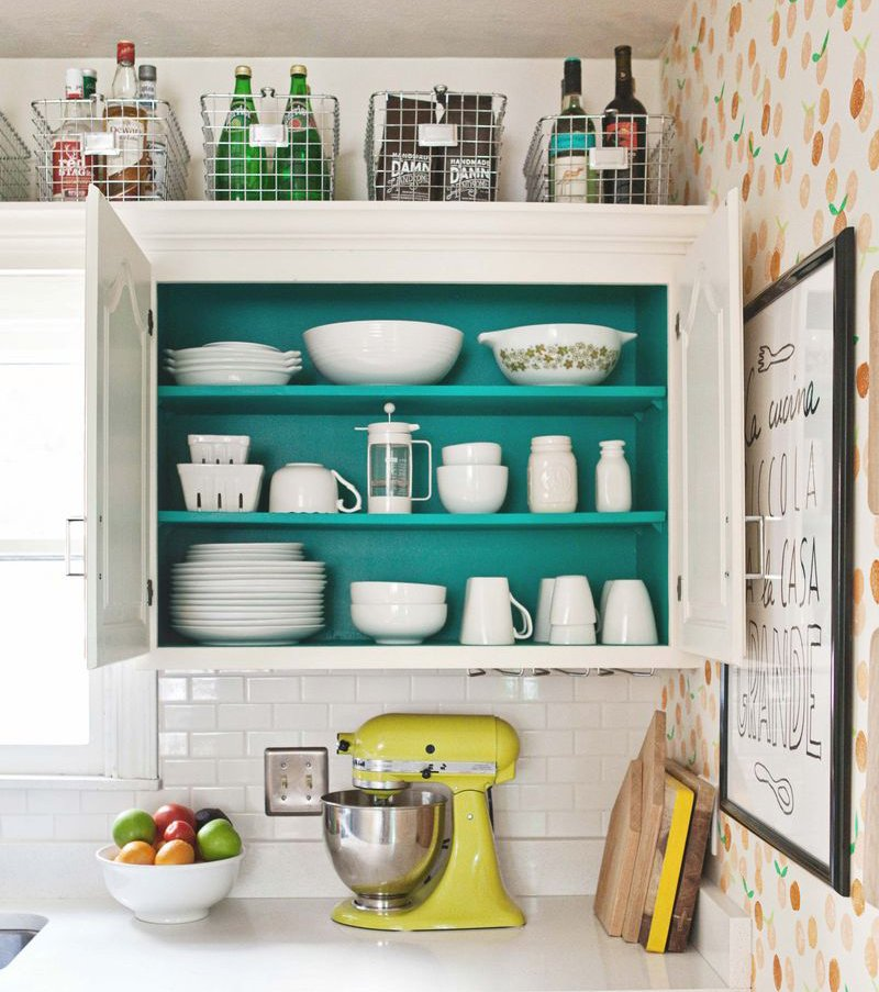 Painted kitchen cabinets by A Beautiful Mess
