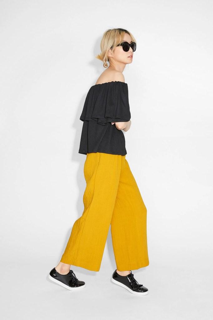 Marisol yellow trousers Monki