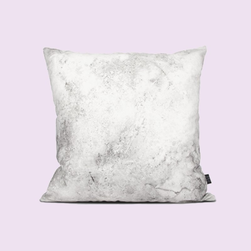 how are you_white marble texture pillow