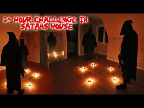 24 HOUR OVERNIGHT CHALLENGE IN SATANS HOUSE! PARANORMAL ACTIVITY | MOE SARGI