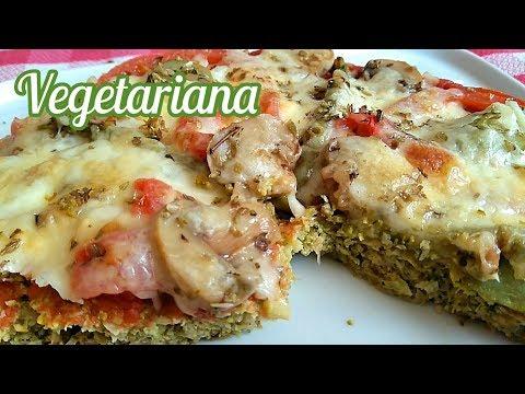 Pizza con base de brócoli | Pizza de brócoli | Pizza vegetal | El Dulce Paladar