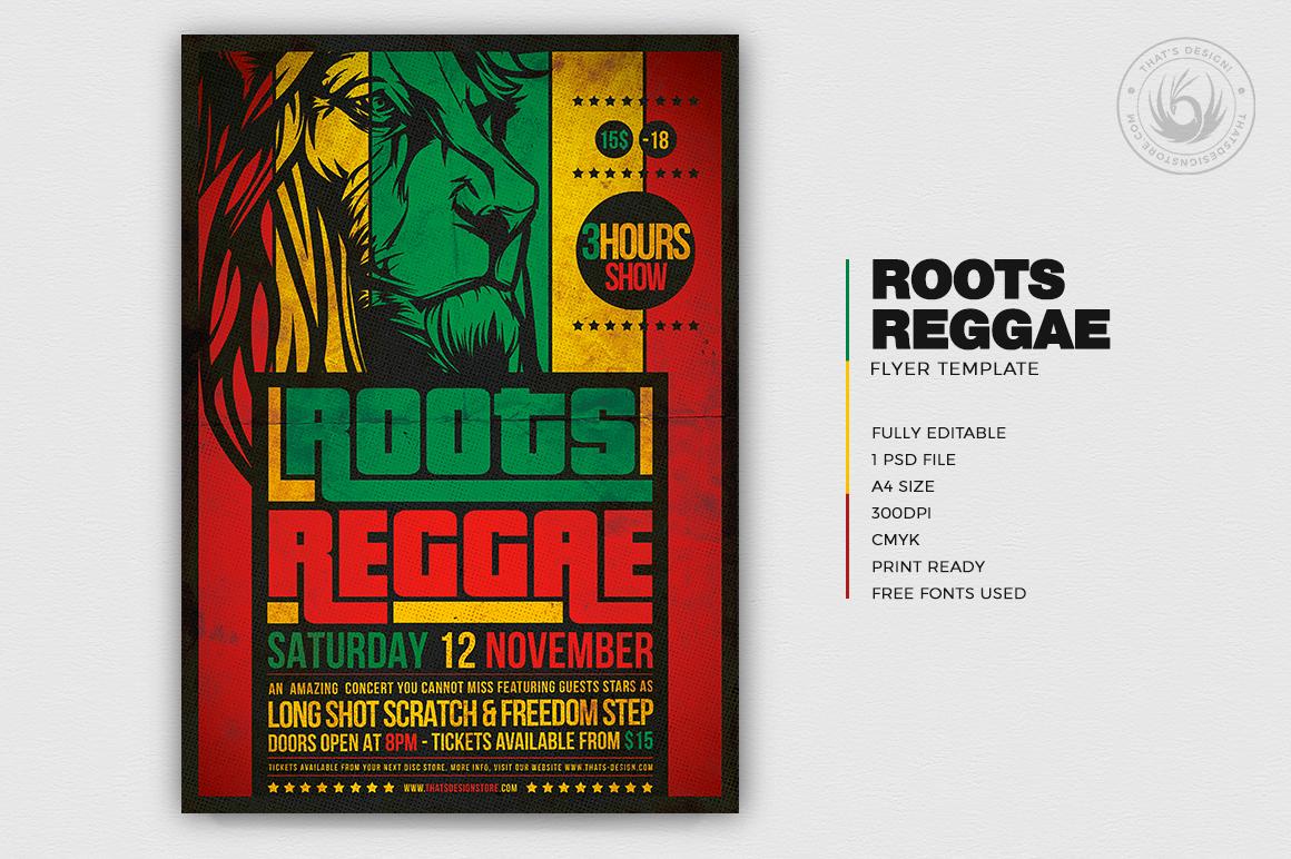roots reggae flyer template  rasta psd flyers design