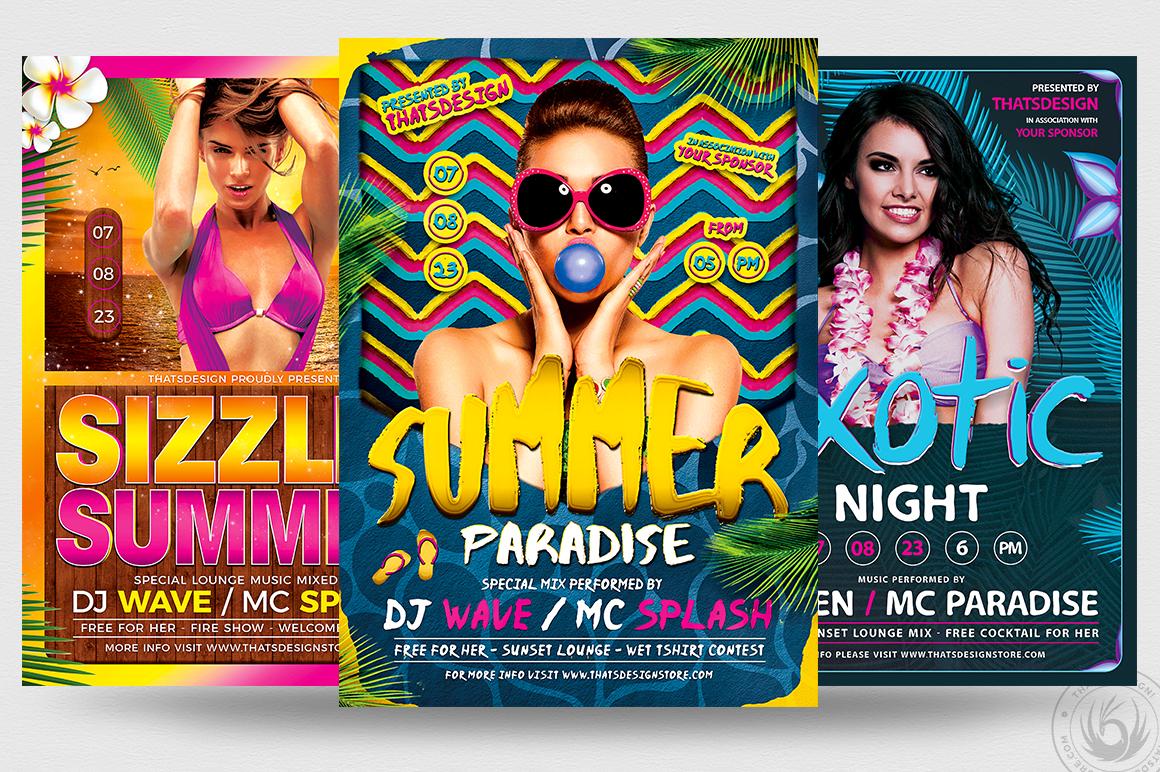 Beach Party Flyer Bundle V3 Thats Design Store