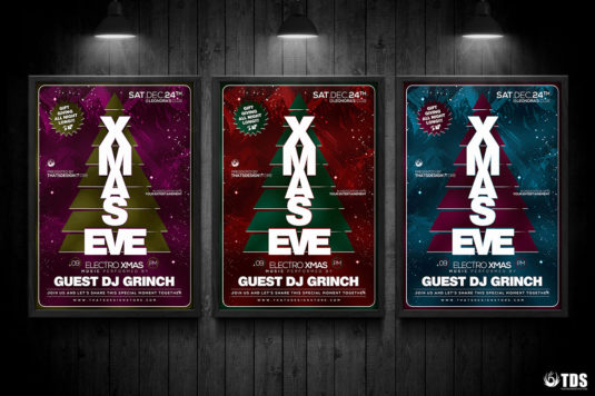 Christmas Eve Flyer Template psd V.6