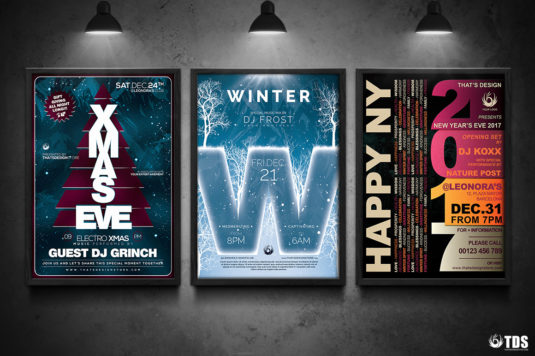 3 FLYERS PSD - Winter Events Flyer Templates V.3