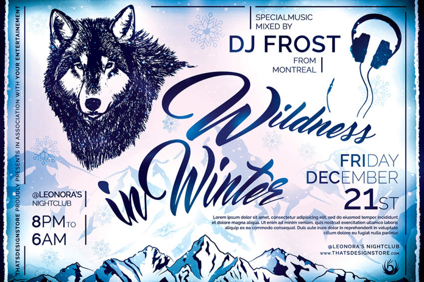 Wildness In Winter Flyer Template