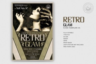 Retro Glam Flyer Template V4