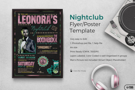 Nightclub Promotion Flyer Psd Template