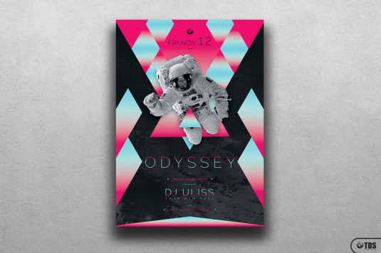 Odyssey Flyer Template psd for photoshop