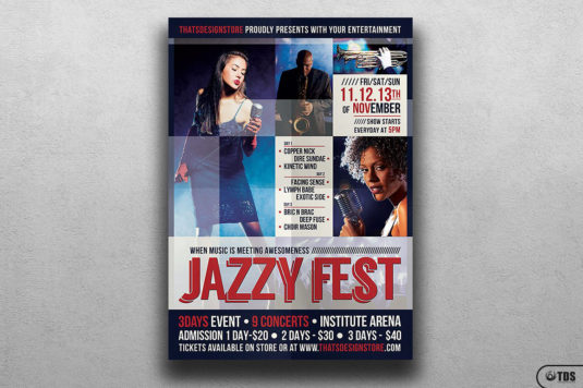 Jazzy Fest Flyer Template