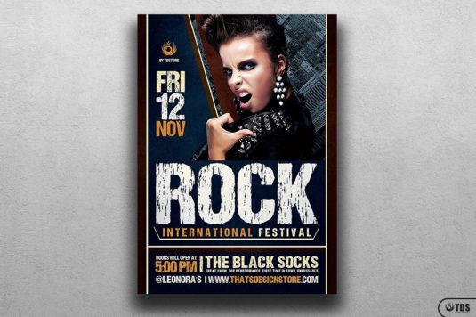 Rock Festival Flyer Template V7