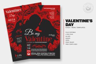 Valentines Day Flyer + Menu Bundle V6