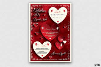 Valentine's Day Flyer Template Psd Design V1 Psd download to customize with photoshop