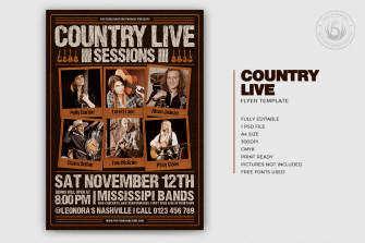 Country Live Flyer Template V6