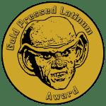 Gold Pressed Latinum Award