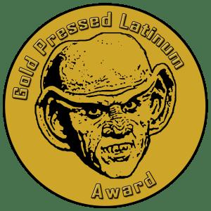 Quark Gold Pressed Latinum Award