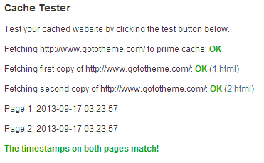 Test if WP Super cache is activated