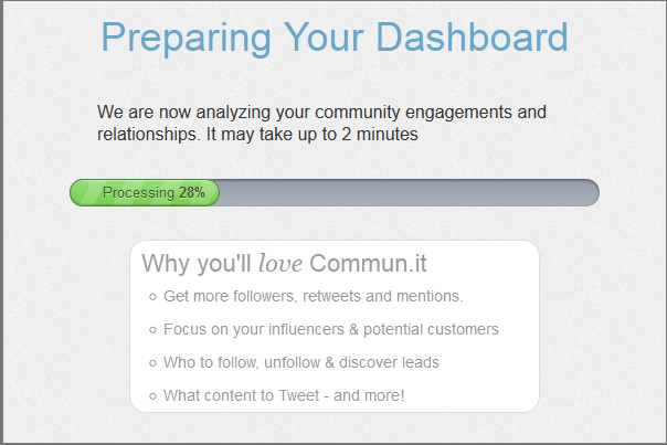 Preparing dashboard in commun.it Twitter community manager