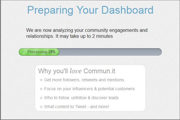 Preparing dashboard in commun.it Twitter community manager