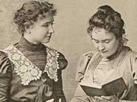 Helen Keller with her teacher Anne Sullivan