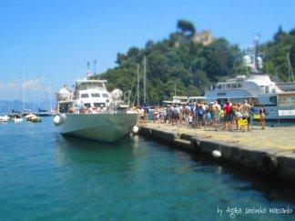 turists portofino liguria