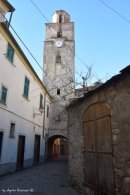 view of the church tower Varese Ligure