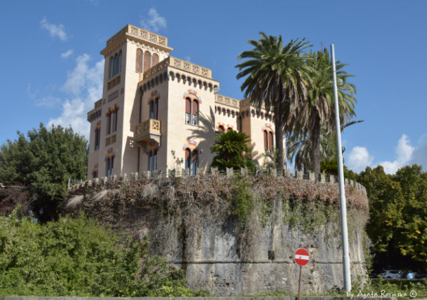 villa inside a defensive tower